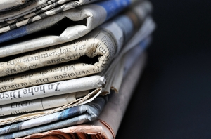A stack of newspaper